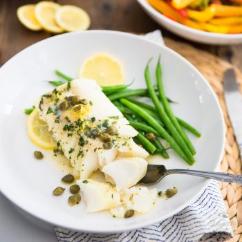 Easy Lemon Caper Baked Cod
