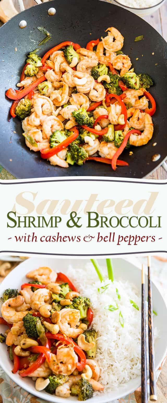 Sauteed Shrimp Broccoli | thehealthyfoodie.com