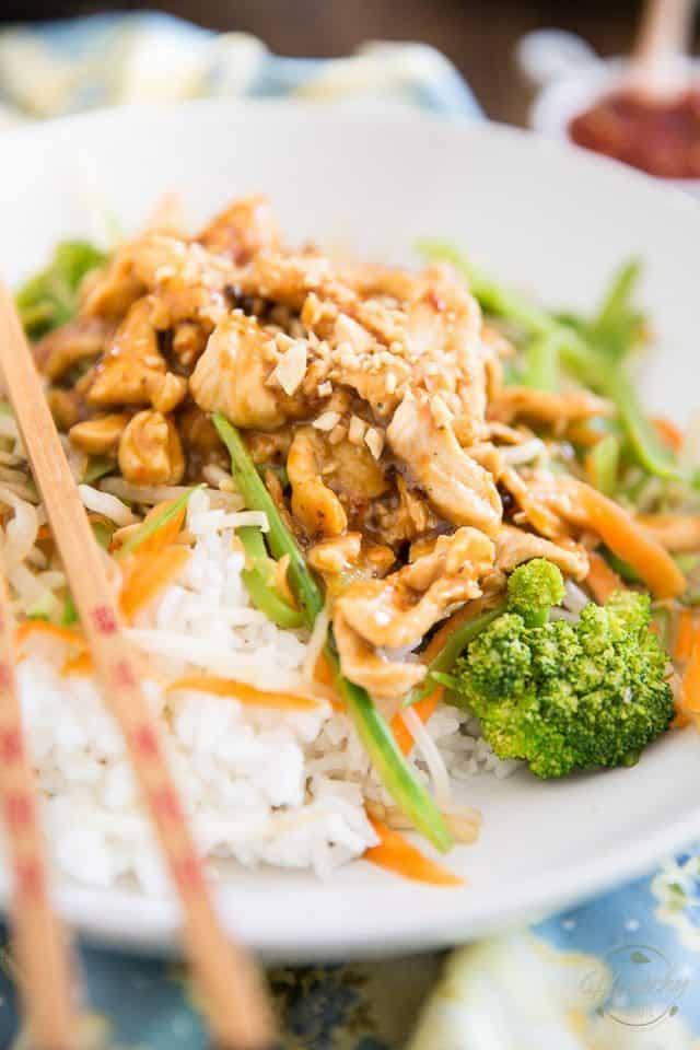 This Spicy Peanut Chicken Teriyaki is at least a hundred times better than the one I usually order at my favorite Teriyaki restaurant. Plus, it's so easy to make, I'm thinking I'll always make my own from now on!