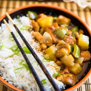 A truly healthy version of a great Asian Classec: Sweet and Sour Chicken. Once you've tried this one, you'll probably never opt for take-out ever again!