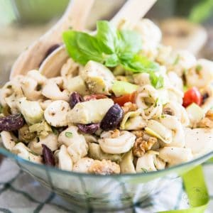 This Mediterranean Tortellini Salad is quick and easy to prepare and can be enjoyed on it's own for a meatless meal, or as a side with your favorite grilled meat!