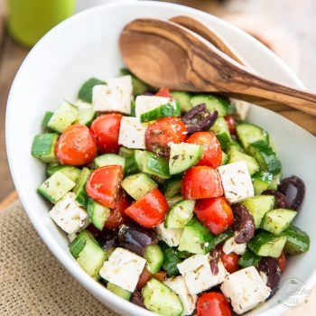 Greek Style Tomato Cucumber Salad