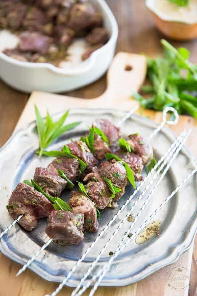 Lamb Kabobs with Tahini Sauce