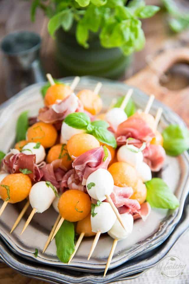 Prosciutto Melon Skewers The Healthy Foodie