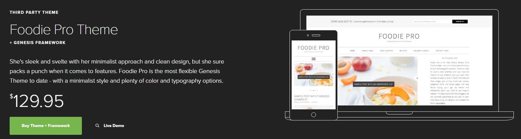 Foodie Pro Theme on Studio Press