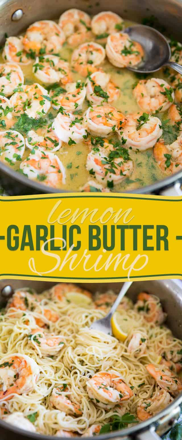 You won't believe the amount of flavor that this Garlic Butter Lemon Shrimp dish boasts under its hood. Serve with pasta, rice, quinoa or zoodles for a quick and easy meal