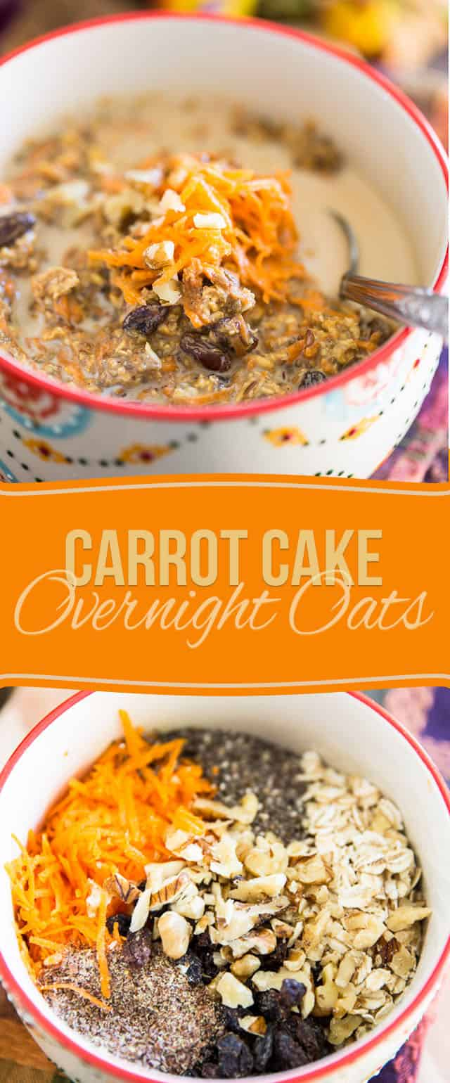 As delicious as they are quick to prepare, these Carrot Cake Overnight Oats will have you totally look forward to rolling out of bed in the morning!