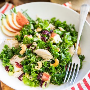 Kale Apple Chicken Salad