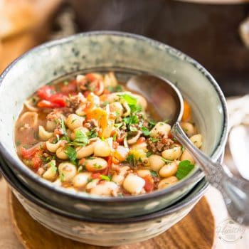 This Pasta e Fagioli might be quick and easy to make but that doesn't make it any less delicious, bone warming and soul comforting to eat!