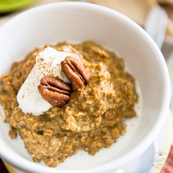 Super fast and stupid easy to prepare, these Pumpkin Pie Overnight Oats make for a great breakfast or post-workout meal that you will look forward to eating!