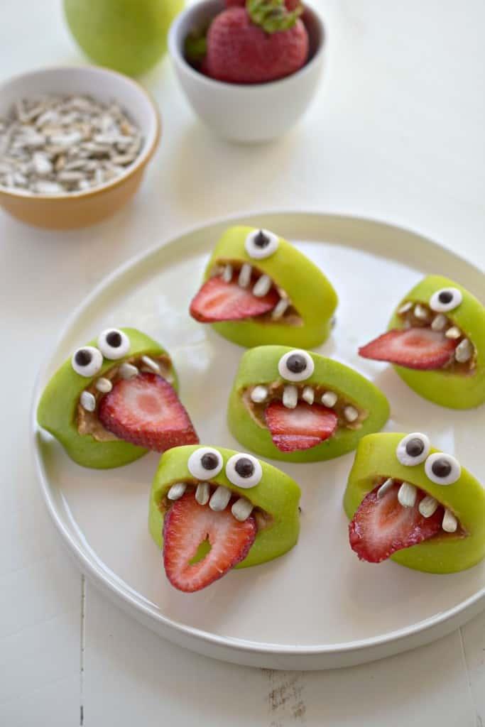 Halloween Recipe Ideas - Silly Apple Bites