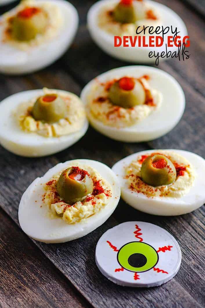 Blood Shot Deviled Egg Eyeballs