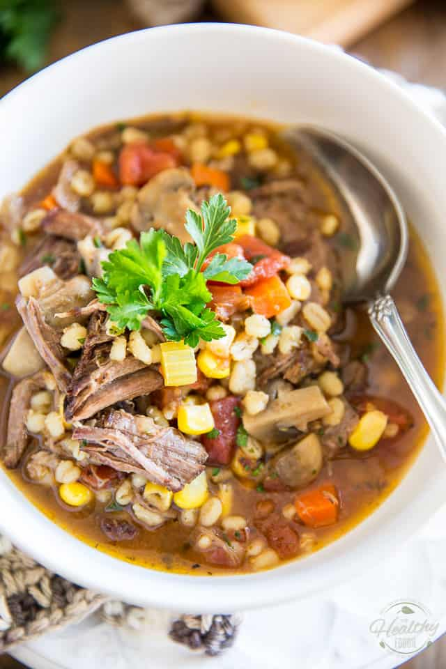 Most people like to use cubed stew meat in their Beef and Barley soup ...