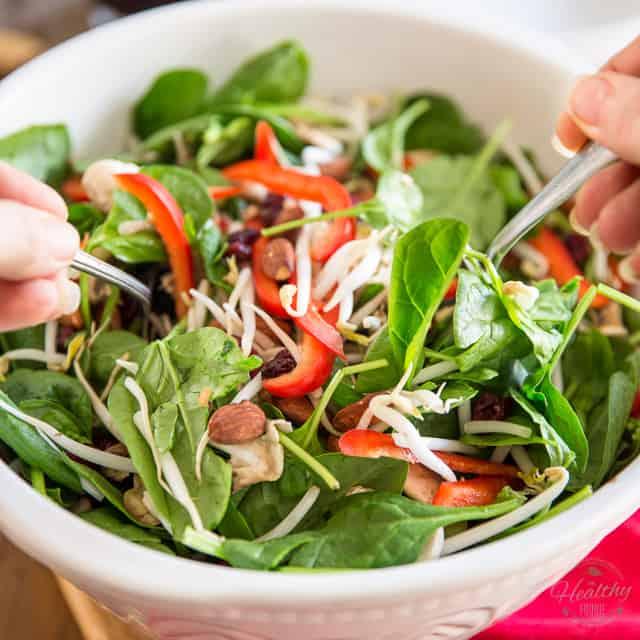 healthy spinach salad recipes