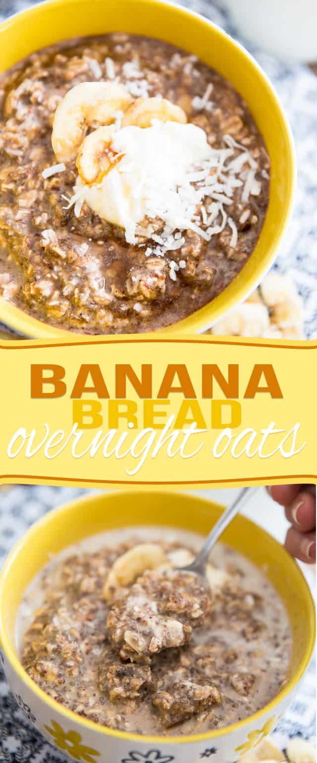Wonderful as a post-workout meal or breakfast, these High Protein Banana Bread Overnight Oats will have you look forward to getting up in the morning!