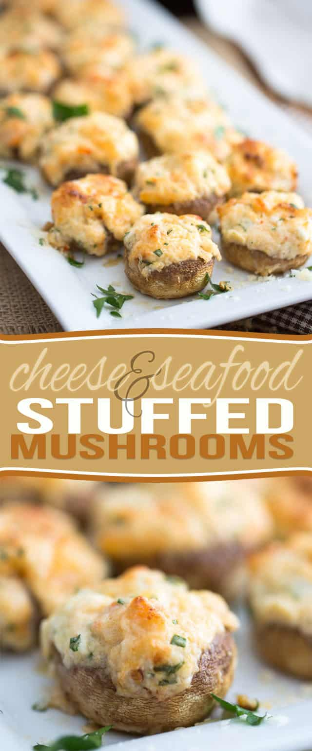 Decadent, slightly indulgent, but filled with loads of nutritious ingredients still, these Cheese and Seafood Stuffed Mushrooms are guaranteed to be a hit at your next party!
