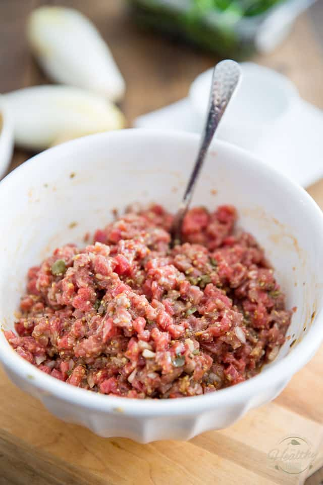 Classic Beef Tartare by Sonia! The Healthy Foodie | Recipe on thehealthyfoodie.com