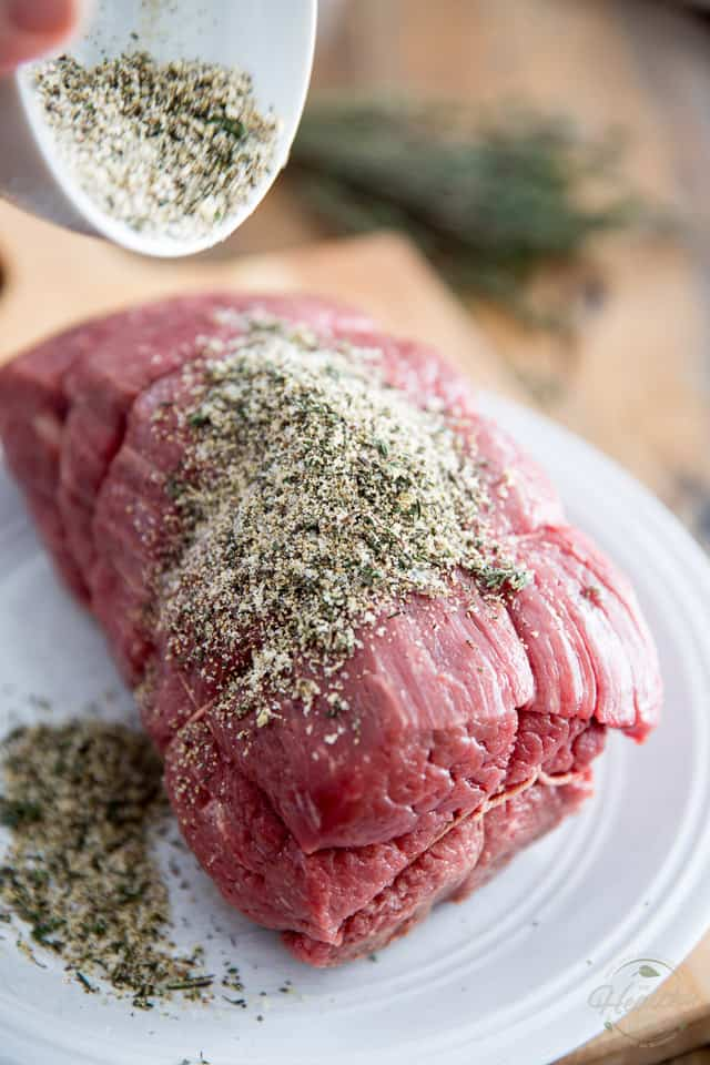 French Roast Beef - Cold Cut Style by Sonia! The Healthy Foodie | recipe on thehealthyfoodie.com