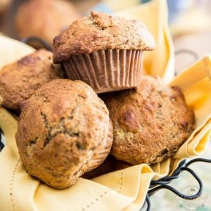 Naturally Sweetened Banana Muffins