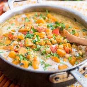 Butternut Squash Chickpea Curry by Sonia! The Healthy Foodie | Recipe on thehealthyfoodie.com