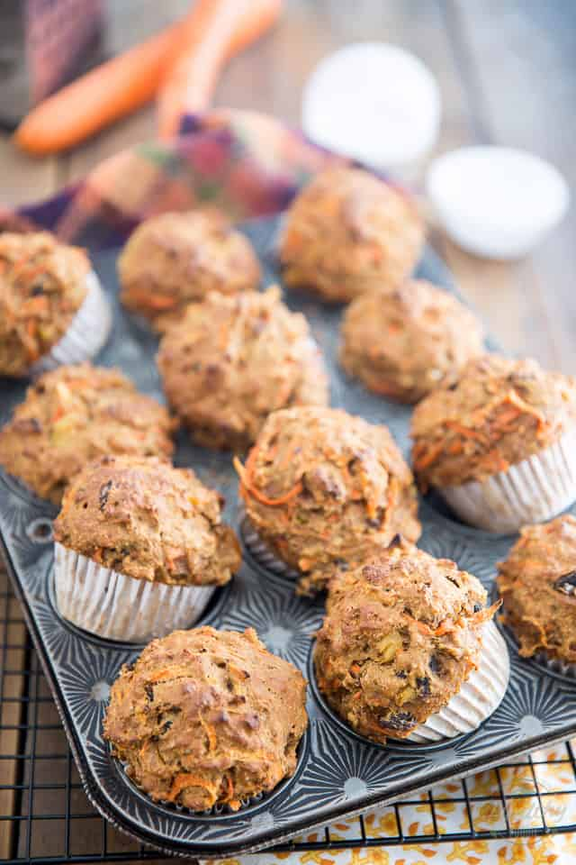 No Sugar Added Carrot Muffins by Sonia! The Healthy Foodie | recipe on thehealthyfoodie.com