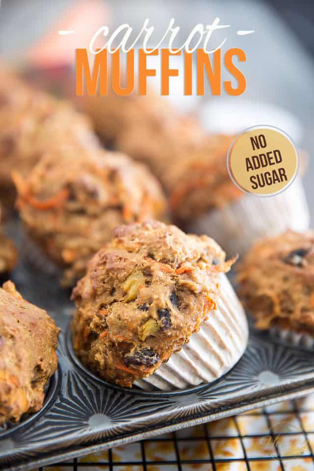 Made with nothing but wholesome ingredients, these no sugar added Carrot Muffins could be part of a healthy breakfast and would make for a healthy snack