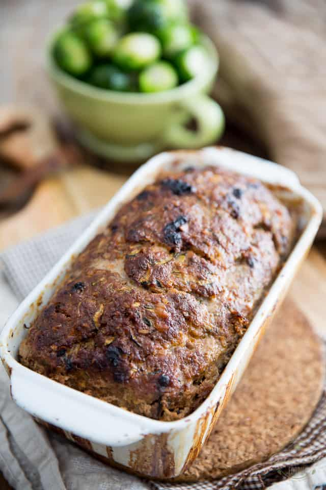 Cheddar Parmesan Zucchini Meatloaf by Sonia! The Healthy Foodie | Recipe on thehealthyfoodie.com