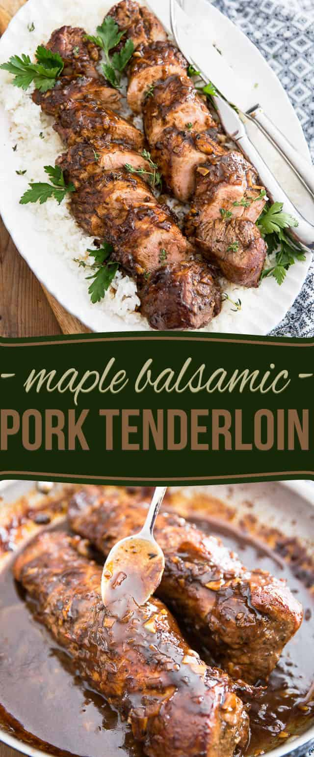 Maple Balsamic Pork Tenderloin by Sonia! The Healthy Foodie   Recipe on thehealthyfoodie.com