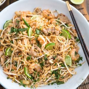 Pork and Shrimp Pad Thai by Sonia! The Healthy Foodie | Recipe on thehealthyfoodie.com