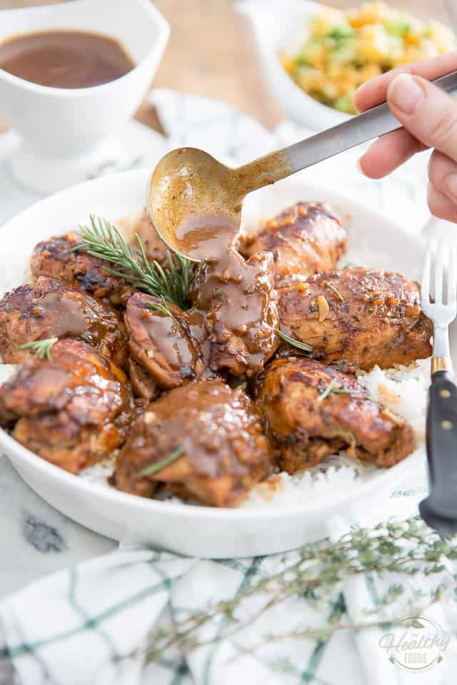 Maple Balsamic Glazed Chicken by Sonia! The Healthy Foodie | Recipe on thehealthyfoodie.com
