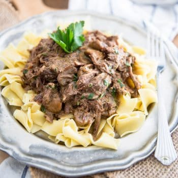 Shredded Beef Stroganoff