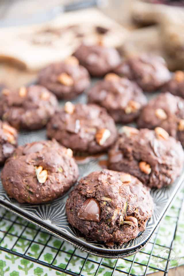 Zucchini Chocolate Muffins by Sonia! The Healthy Foodie | Recipe on thehealthyfoodie.com