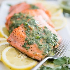 Easy Pan Seared Trout Fillet with Watercress Vinaigrette by Sonia! The Healthy Foodie | Recipe on thehealthyfoodie.com
