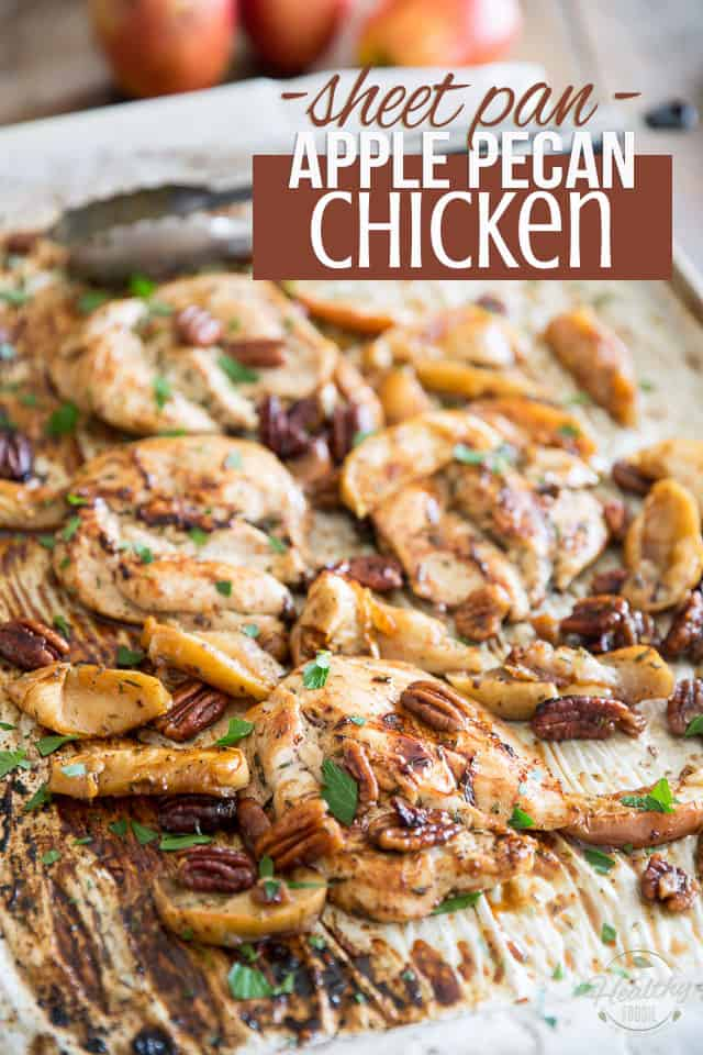 Sheet Pan Apple Pecan Chicken by Sonia! The Healthy Foodie | Recipe on thehealthyfoodie.com
