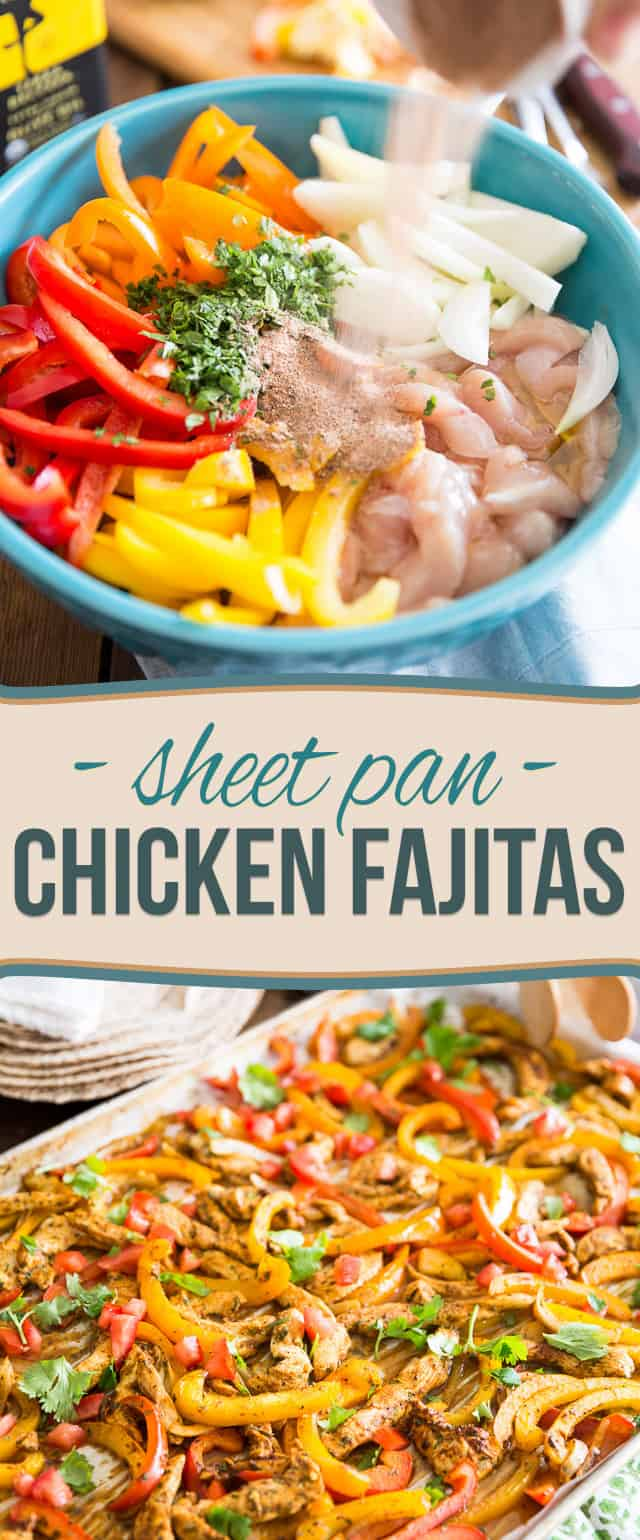 Sheet Pan Chicken Fajitas by Sonia! The Healthy Foodie | Recipe on thehealthyfoodie.com