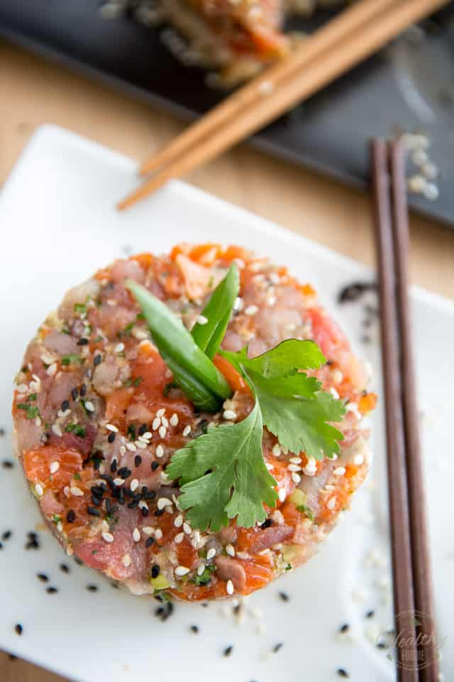 Asian Tuna Salmon Tartare by Sonia! The Healthy Foodie | Recipe on ...