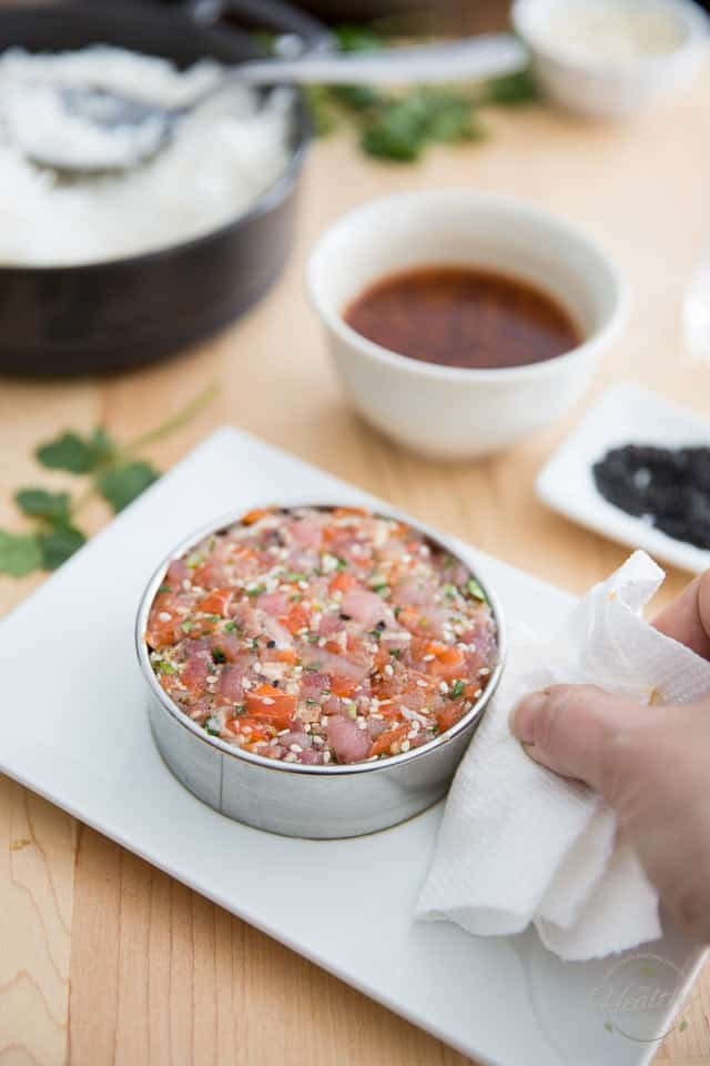 Asian Tuna Salmon Tartare by Sonia! The Healthy Foodie | Recipe on thehealthyfoodie.com