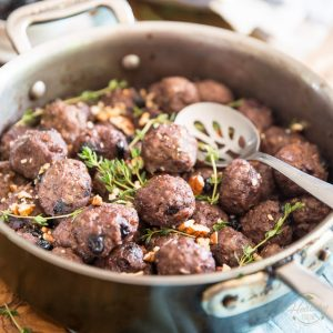 Blueberry Pecan Wild Boar Meatballs