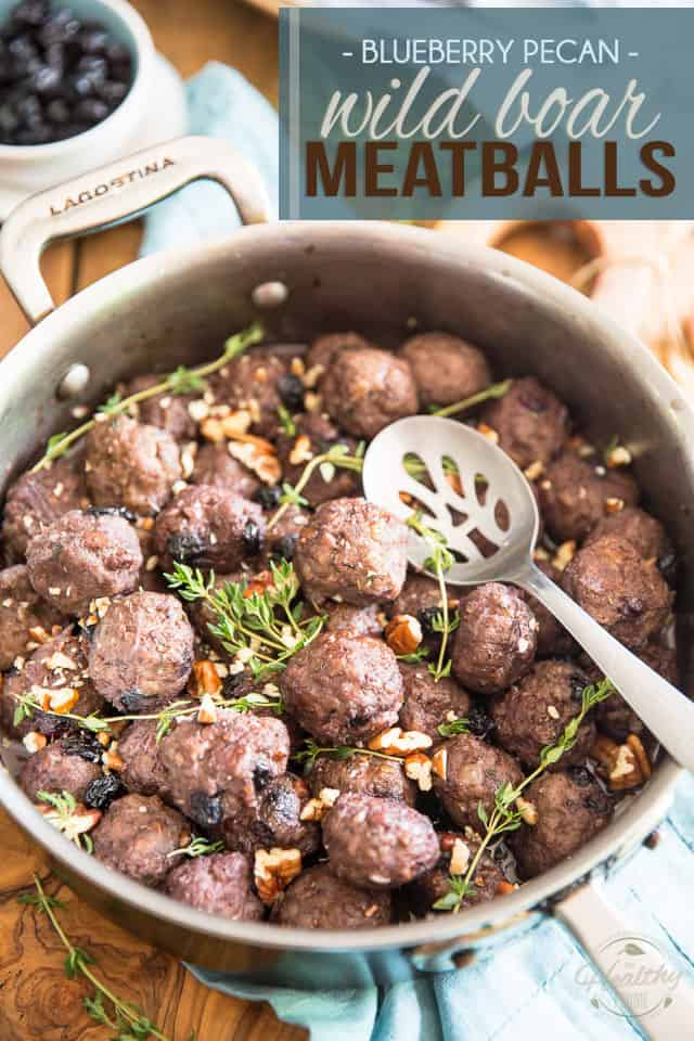 Blueberry Pecan Wild Boar Meatballs by Sonia! The Healthy Foodie | Recipe on thehealthyfoodie.com