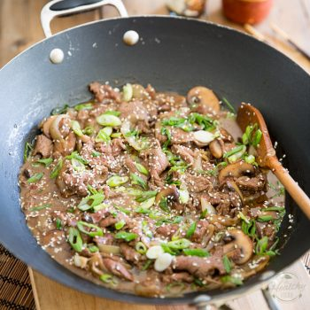Korean Style Beef with Mushrooms and Onions by Sonia! The Healthy Foodie | Recipe on thehealthyfoodie.com