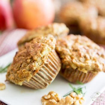 Rosemary Sharp Cheddar Apple Muffins