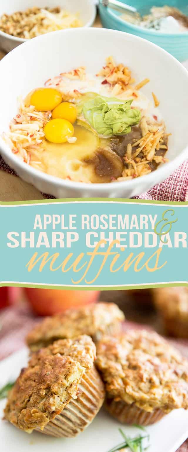 Treat yourself to a healthy and wholesome breakfast or snack with these super delicious, Naturally Sweetened Rosemary Sharp Cheddar Apple Muffins