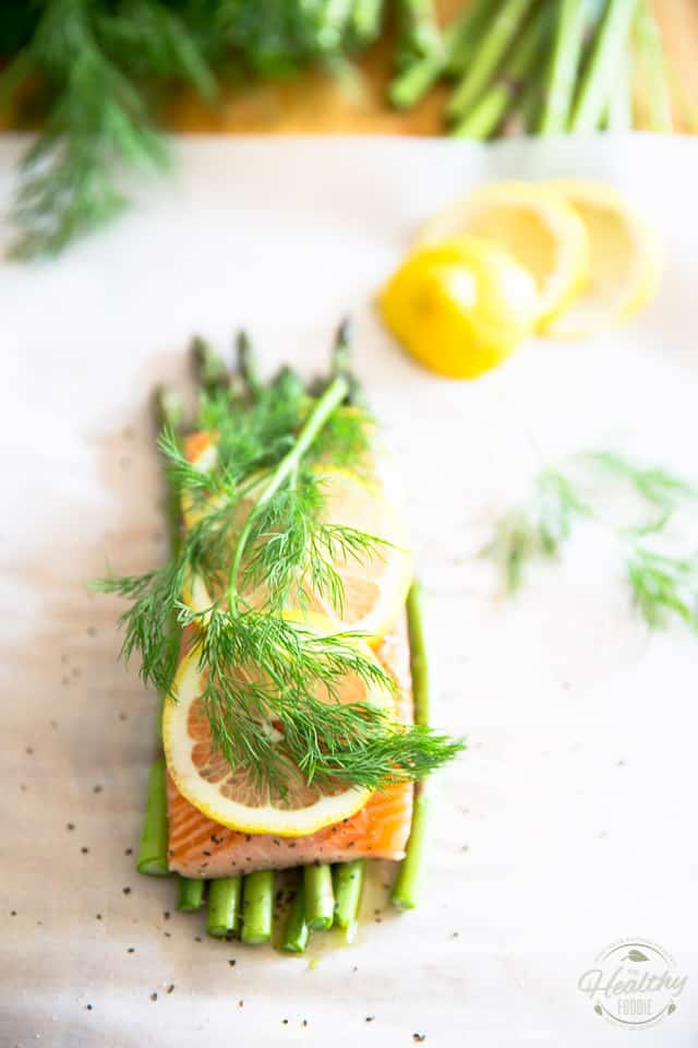 Parchment Paper Baked Salmon by Sonia! The Healthy Foodie | Recipe on thehealthyfoodie.com
