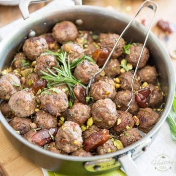 Pistachio Date Lamb Meatballs by Sonia! The Healthy Foodie | Recipe on thehealthyfoodie.com