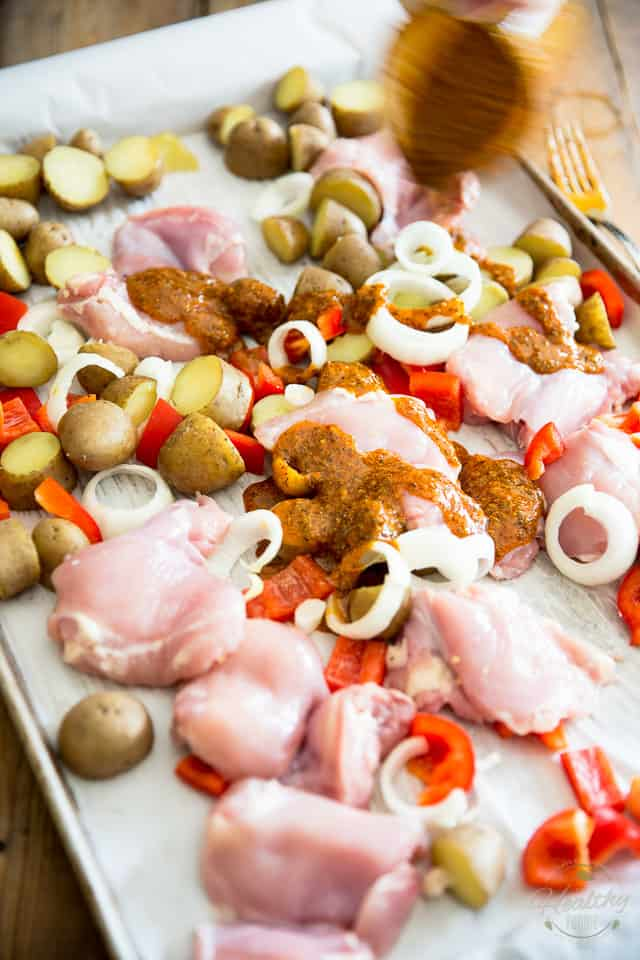 Sheet Pan Greek Style Chicken by Sonia! The Healthy Foodie | Recipe on thehealthyfoodie.com