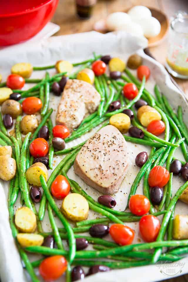 Sheet Pan Nicoise Salad by Sonia! The Healthy Foodie | Recipe on thehealthyfoodie.com