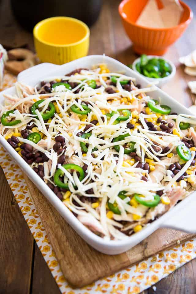 Chicken Enchilada Casserole by Sonia! The Healthy Foodie | Recipe on thehealthyfoodie.com