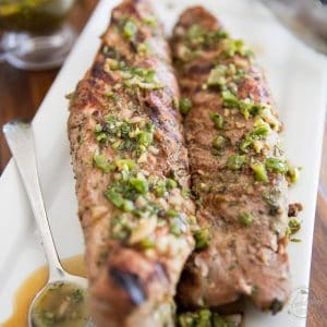 Grilled Herbed Pork Tenderloin