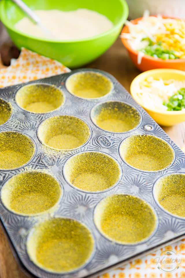Jalapeno Cheddar Cornmeal Muffins by Sonia! The Healthy Foodie | Recipe on thehealthyfoodie.com