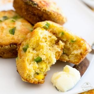 So tasty and delicious, you won't believe how good for you these Jalapeno Cheddar Cornmeal Muffins actually are!